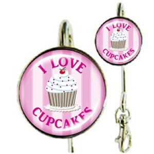 Accroche-clés I Love Cupcakes Roses