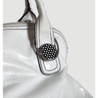Accroche-sac Pois Blancs